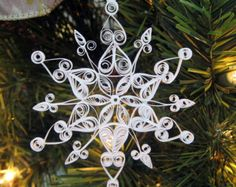 Fabulous Frost Quilled Snowflake Ornament