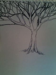 Weird Tree - Inked by Winterquilt on deviantART (This was drawn by my friend!! :D)