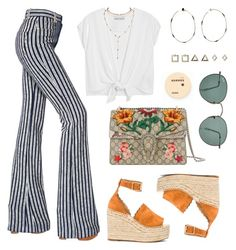 """Orange juice"" by baludna ❤ liked on Polyvore featuring Sonia Rykiel, Alice + Olivia, Chloé, Gucci, Ray-Ban, STONE, Topshop and Korres"