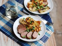 Cumin-Crusted Pork Loin with Grilled Apples and Fennel
