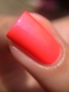 Hillbilly Harlot - Neon pink coral creme with subtle shimmer.  Pic taken in sunshine. Swatch by @jennpadd1.