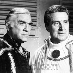 Commander Adama (Lorne Greene) & Count Iblis (Patrick Macnee) - Battlestar Galactica S01E15 & 16 (Episodes 13 & 14): War of the Gods, Parts 1 & 2 (First Aired January 14 & 21, 1979)
