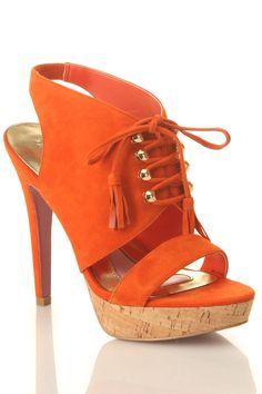 Paris Hilton Miranda Sandal In Orange.