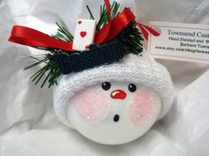 Casino Cards Snowman Ornament Christmas by TownsendCustomGifts, $9.95