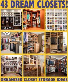 43 Dream closets - closet organization & storage ideas