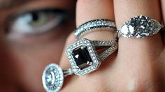 love the black & white diamond combo wedding band!
