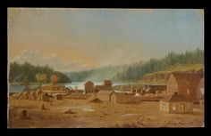 The Mills of Oregon City – 1847 Paul Kane City Works, Oregon City, Fur Trade, Native American History, Native Art, First Nations, Pacific Northwest, Historical Photos, Rock Art