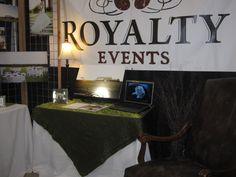 Bridal Show 2012 detailspartyrental.com Royalty Pecan Farm's Booth - Dazzle Moss