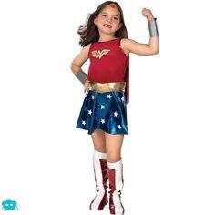 Disfraz de Wonder Woman clásico para niña