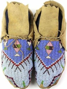 1890's Sioux beaded moccasins