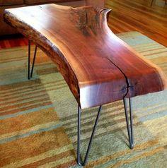 SOLD Black Walnut Live Edge Slab Coffee Table by SlabLife on Etsy