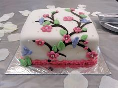 used wilton fondant molds | This cherry blossom cake was made for a co-worker's office bridal ...