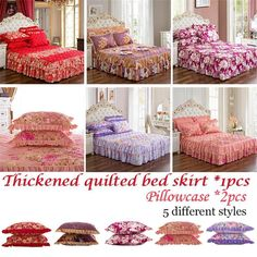Thickened quilted bed skirt The scope of application: bed, bedroom. the position of the pattern will be different from the picture. Back To Home, Flat Bed, Quilt Cover Sets, Quilt Bedding, Bedroom Bed, Bed Covers, Bed Sheets, Different Styles, Pillow Cases