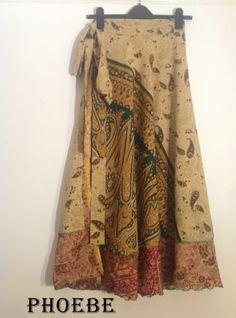 Striking Indian Silk-Blended Reversible Wrap around Boho Skirts Fits 12 14 16 18 | eBay
