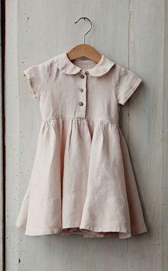 Pastel Pink Linen Baby Dress | Etsy
