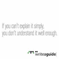 Quote by Albert Einstein  Writeaguide? Wofür seid ihr gut?  Das Leben ist schon kompliziert genug. Vereinfachen wir es wo wir können z.B. im Alltag. Ein hilfreiches Werkzeug kann ein #Guide sein der dich führt und dir komlexe Vorgänge anschaulich und verständlich darstellt. Writeaguide und seine Tools bieten die perfekten Möglichkeiten dazu. #Simplify #Simplifyyourlife #EASY  #diy #ipad #iphone #startup #business #marketing #design #entrepreneurs #quote #technology #socialmedia #office…