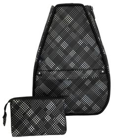 Check out our Black Plaid Faux Leather With Black Lining 40 Love Courture Ladies Elizabeth Tennis Backpacks! Find the best tennis gear and accessories at Lori's Golf Shoppe. Click through now to see this Tennis Backpacks!