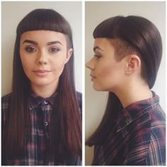 long hair models – hairstyles with bangs hairstyles with bangs … - Hair Cuts Undercut Long Hair, Undercut Hairstyles, Hairstyles With Bangs, Cool Hairstyles, Side Undercut, Wavy Haircuts, Dreads, Hair Dos, Your Hair