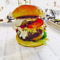 greek mousaka burger