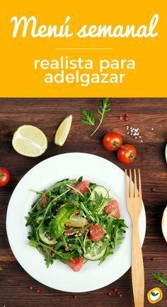 Descubre el menu semanal más realista para #adelgazar #dieta #tips #consejos #menu Diet And Nutrition, Paleo Diet, Dieta Paleo, Detoxification Diet, Menu Dieta, Vegetarian Recipes, Healthy Recipes, Diet Plans To Lose Weight, Best Diets