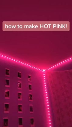 We love this mood. Need some LEDs for your bedroom? Turn your bedroom into your dream room today. Shop Now! Cute Room Decor, Teen Room Decor, Room Ideas Bedroom, Diy Bedroom Decor, Led Room Lighting, Room Lights, Strip Lighting, Pink Led Lights, Led Light Strips