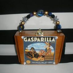 #847 Gasparilla Cigar box Purse with Pirate and Flamenco Dancer- So Cute!