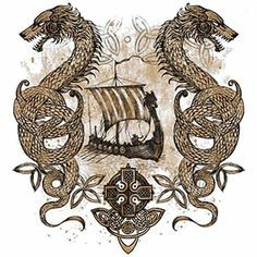 vikingo Midgard University Ringer camisa Odin Mjolnir Loki runas Thor