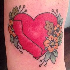 My new California tattoo, by Kapten Hanna of Idle Hand Tattoo in San Francisco. - Imgur