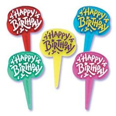 24 Count Happy Birthday Jewel Tones Cupcake Picks Toppers Party Supplies ^^ Click image to get this special deal : Baking decorations 12 Cupcakes, Cupcake Cakes, Cake Supplies, Party Supplies, Decorating Tools, Cake Decorating, Bakery Crafts, Cupcake Pictures, Birthday Parties