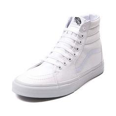 18d3774005a4a1 White Vans Sk8 Hi Skate Shoe
