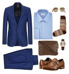 """""""Suit"""" by killa-z on Polyvore featuring DKNY, FAY, Brioni, Stacy Adams, Louis Vuitton, Paul Smith, Rolex, Topman, men's fashion and menswear"""