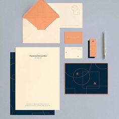 Florence Alexander #minimal #mindsparklemag #design #businesscard #logotype #stationary