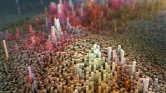 3D Landscape by blocks