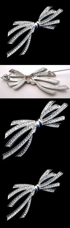 Pins Brooches 165894: Signed Christian Dior Pin Brooch Rhodium Plated Set With Crystals New -> BUY IT NOW ONLY: $135 on eBay!
