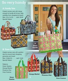 Canvas Tote Bags - Get the most essential thing you need for this summer! Great for a trip to the beach or to the grocery store and everything in between! To order - www.linenworld.com/kellynadeau