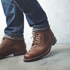 A leather boot will take your through fall and winter.