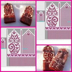 speitel … :: Recommended Pins on 'Gloves' Knitted Mittens Pattern, Crochet Mittens, Knitted Gloves, Crochet Hats, Knit Crochet, Knitting Charts, Knitting Stitches, Knitting Patterns, Knitting Projects