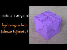 Another box with lid variant using Hydrangea design. Made from one A4 sheet of paper cut into four parts. Minimal amount of glue is used.