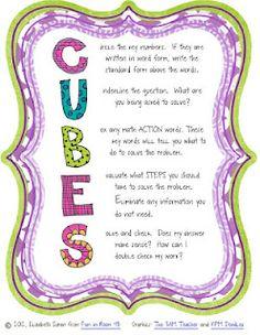 CUBES Math Method Poster