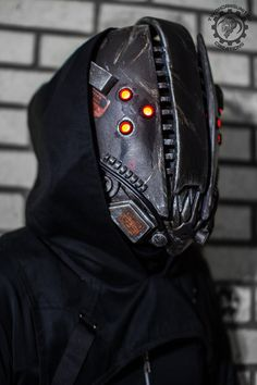 The Glitch Mk IV cyberpunk movable jaw mask by TwoHornsUnited on DeviantArt