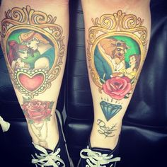 I kind of love these. I like the rose on the left under Meg and Hercules.
