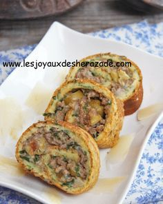 Roulé d'omelette farci à la viande hachée Snack Recipes, Cooking Recipes, Healthy Dinner Recipes, Snacks, Plats Ramadan, Tunisian Food, Ramadan Recipes, Turkish Recipes, Cream Recipes