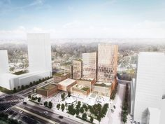 Henning Larsen Wins Competition for Microclimate-Creating Civic Center in Toronto, Adamson Associates Architects, Henning Larsen Architects and PMA Landscape Architects . Image Courtesy of Henning Larsen Architects