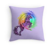 Sparkly Glittery Purple Unicorn And Rainbow Throw Pillow