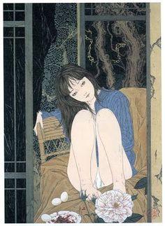 Kai Fine Art is an art website, shows painting and illustration works all over the world. Japanese Illustration, Illustration Art, Aya Takano, Arte Peculiar, Arte Obscura, Wow Art, Creepy Art, Japanese Art, Japanese Horror