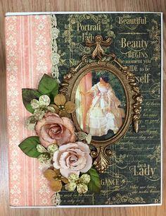 Karen Baker Mattison G45 portrait of a lady mini album cover