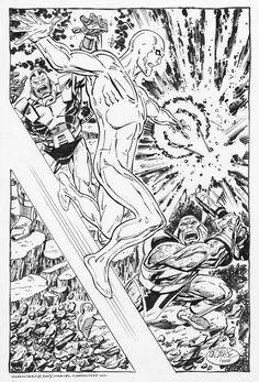 Silver Surfer vs. Terrax & Apocalypse by John Byrne