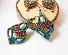 Macrame earrings Indian Tribal Make them as you like by BySinuhe