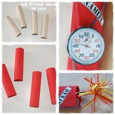 bâtons de dynamite bonbons pour anniversaire agents secrets