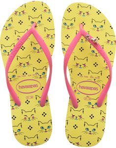 0b79c8fd93993a Havaianas Slim Cat and Dog Printed Flip Flops  7.99   Burlington Yellow Flip  Flops